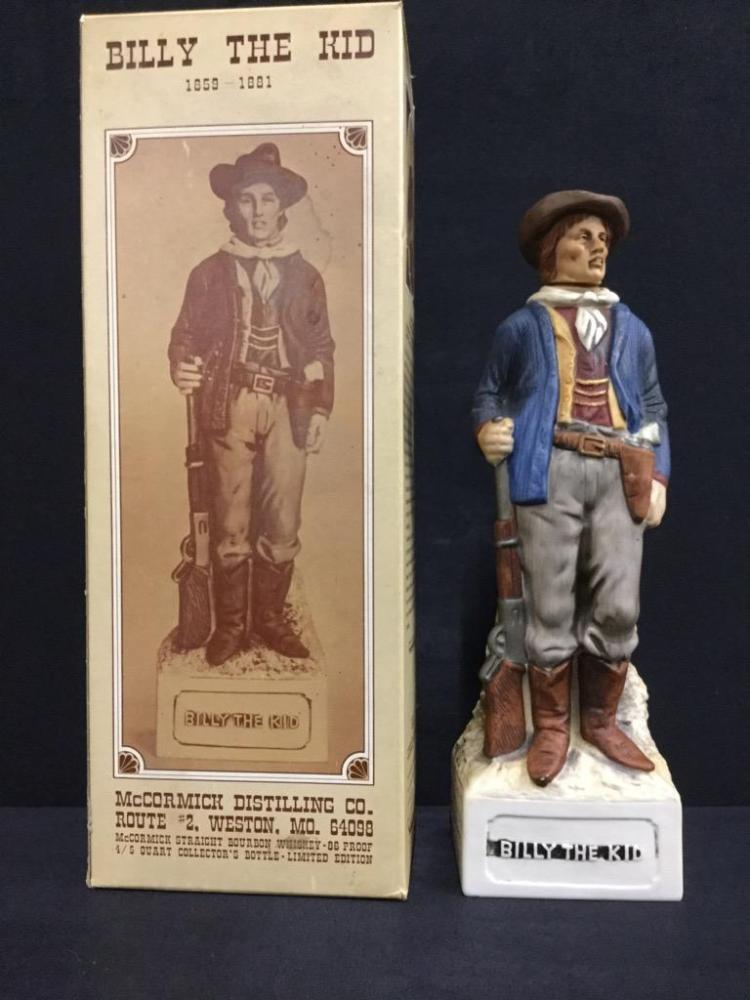 Billy the kid mccormick distilling co decanter/ figure in box