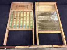 Set of two antique Washboards