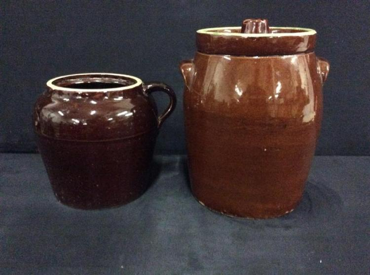 Set of two Antique Crocks - good cond