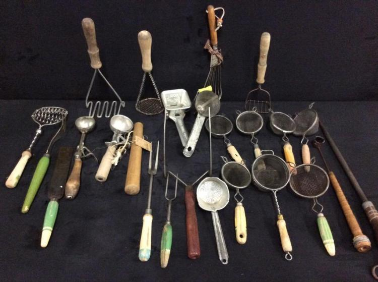 Huge assortment of Primitive Kitchen Tools - wow!