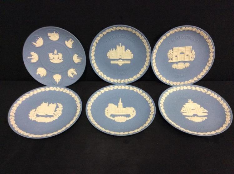Set of 6 wedgewood Jasperware Plates