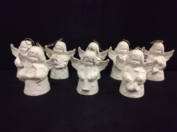 8 goebel bell angel ornaments