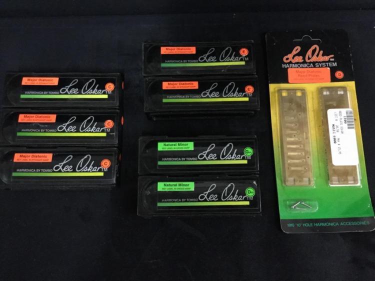 Lee Oskar harmoinca set - 3x C's, E, Eb, Gm, Dm & NIB D reed plates