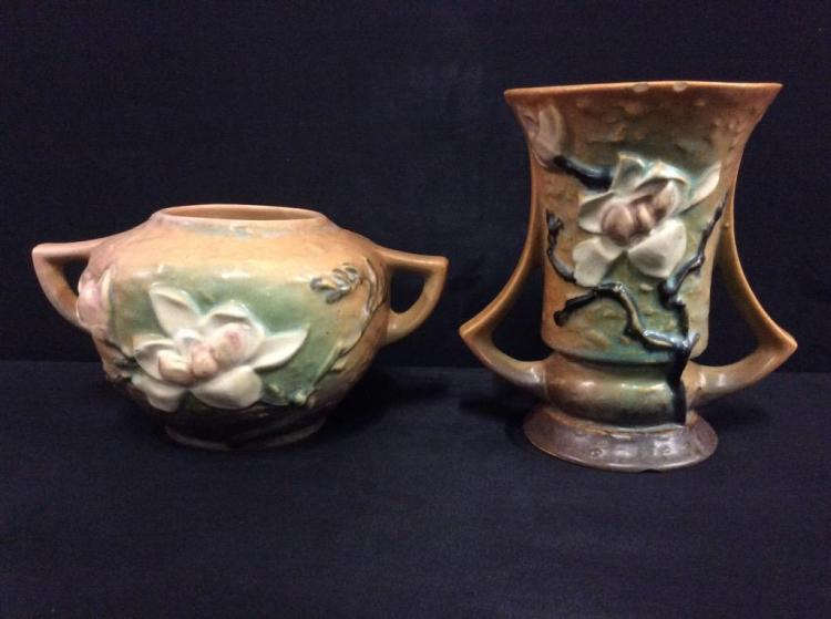 Set of two Roseville Double Handled Vases/jardinieres