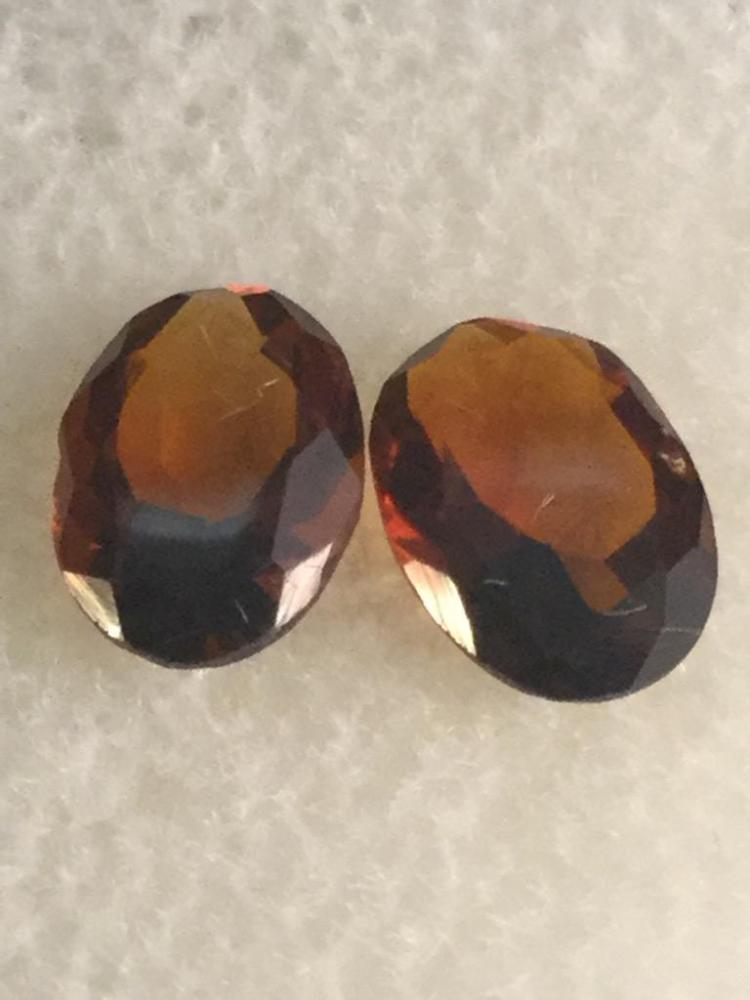 2 Madiera gemstones. 1.20 ct. Ea. 7 X 5 mm