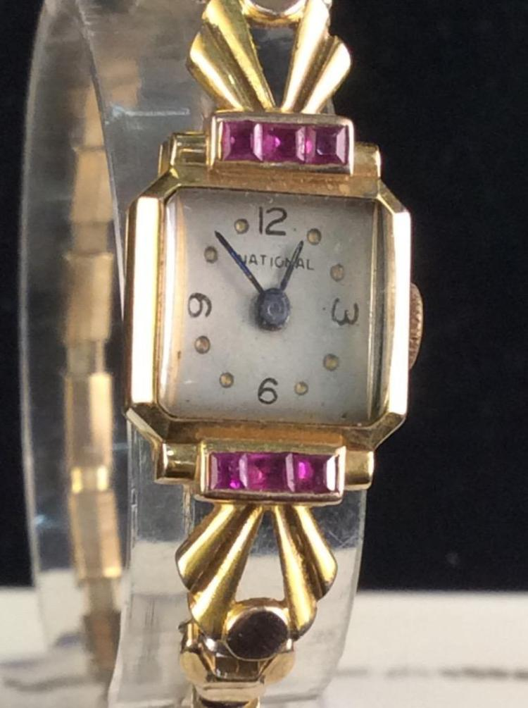 Antique Ladies Swiss 17 jewel 14k gold