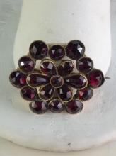 Antique Victorian 14k gold and Garnets? brooch - wow!