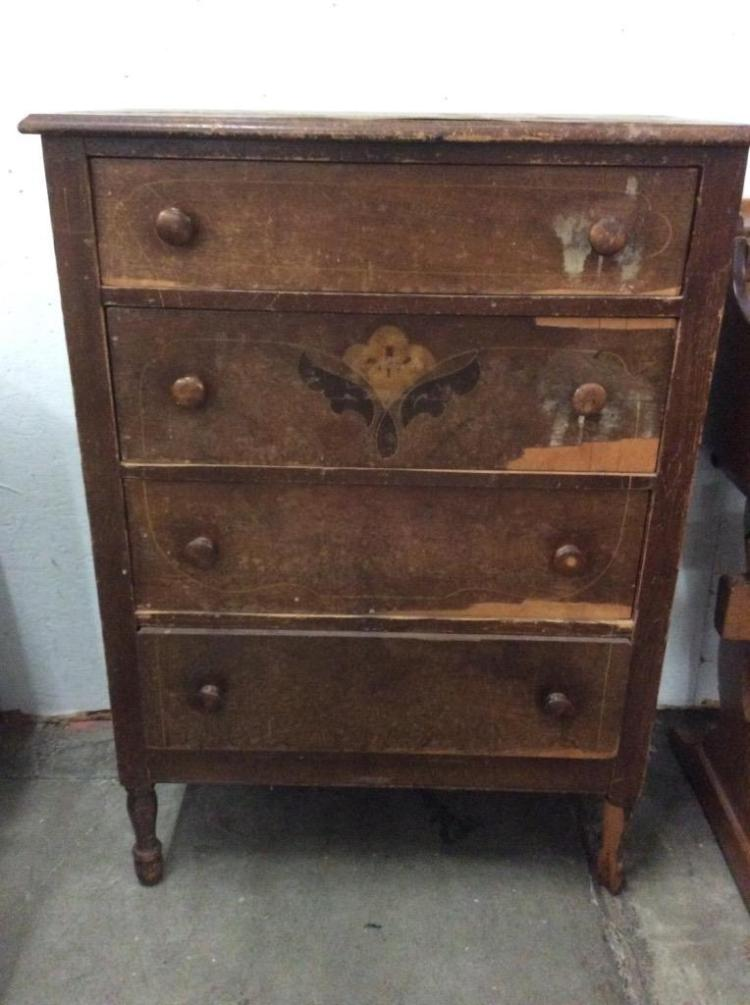 Antique Four Drawer Dresser - fair cond - american