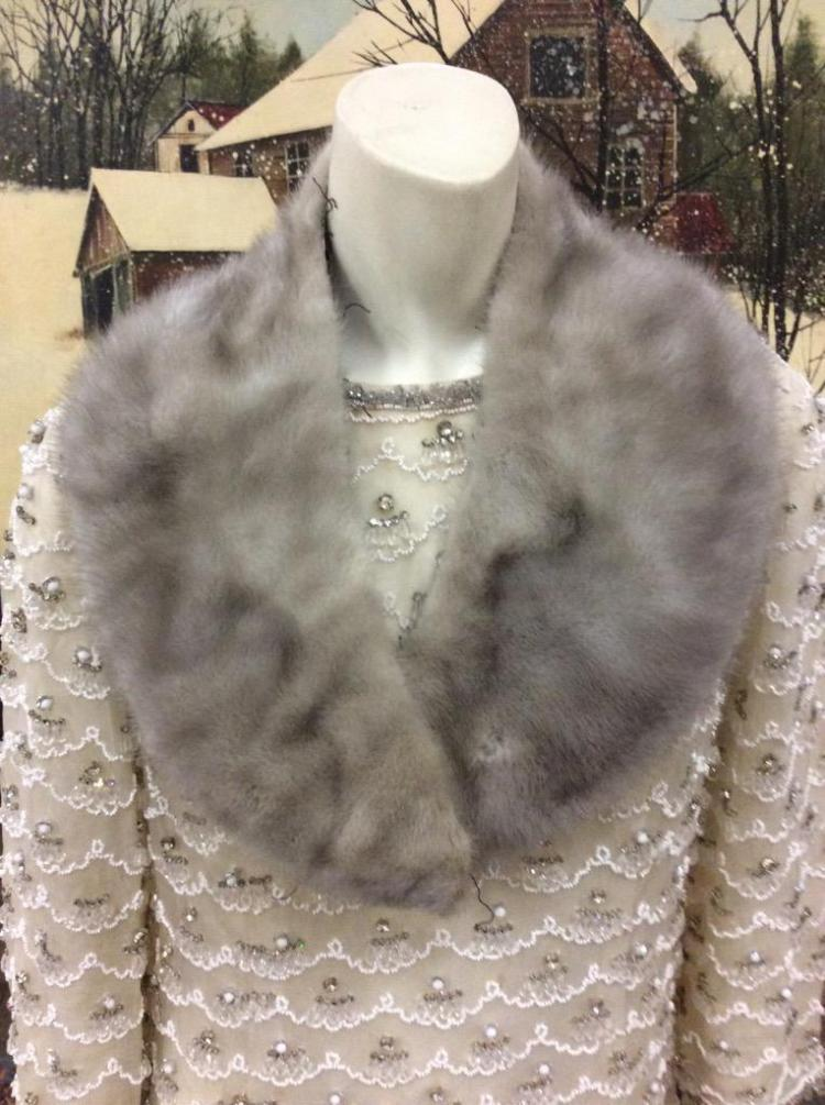 Selection of 3 fur stoles - fair to good cond