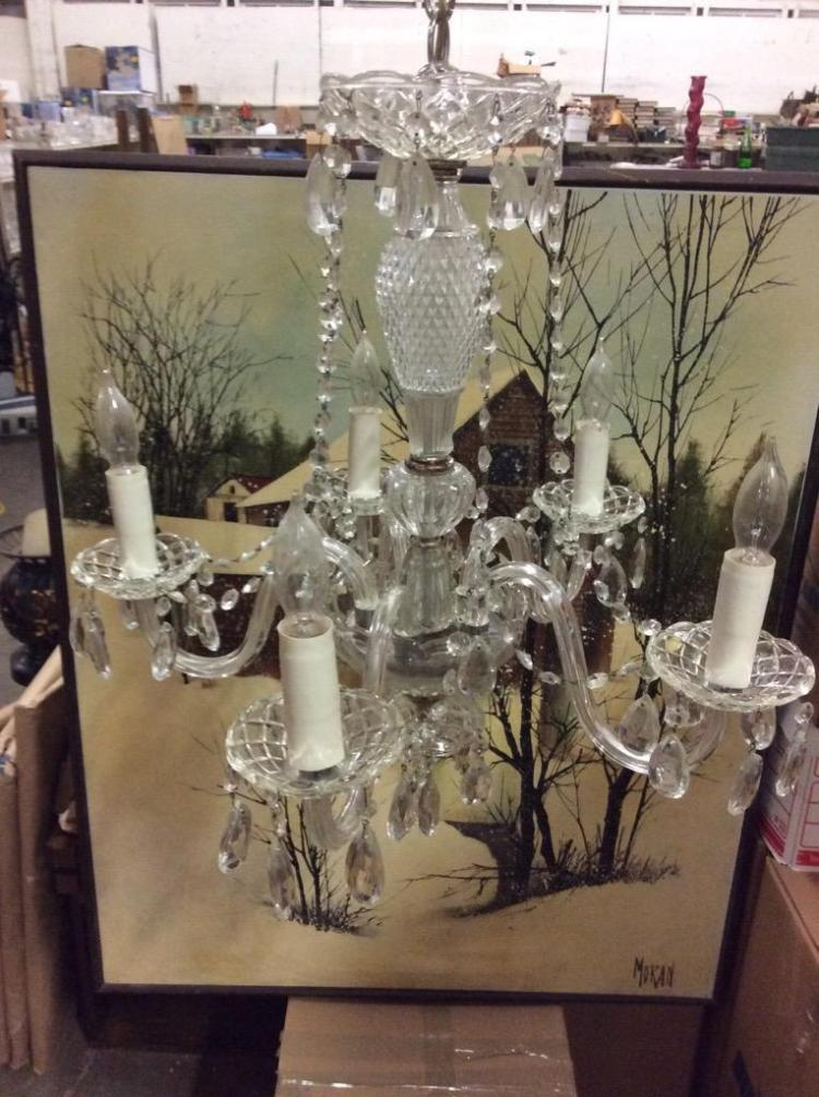 Amazing Antique Crystal Chandelier in great cond - wow!
