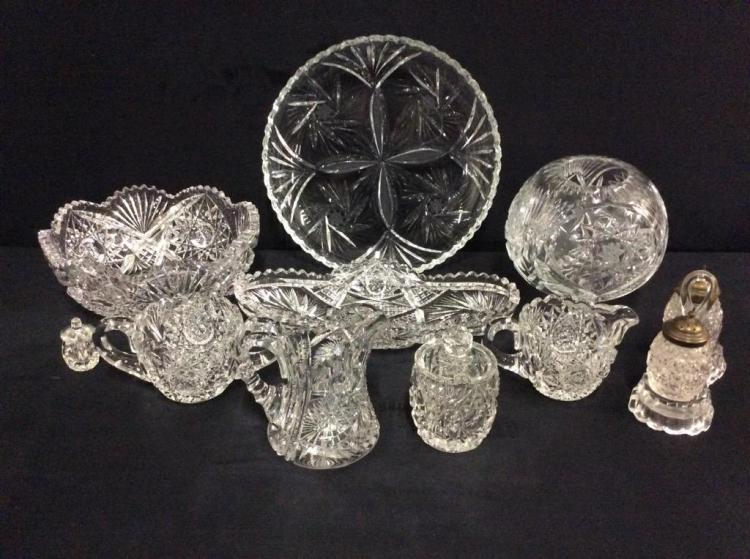 Large Collection of higher end antique Crystal - most a matching set - bavarian ?