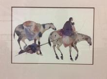 Pair of Native American prints by same artist - nice colors
