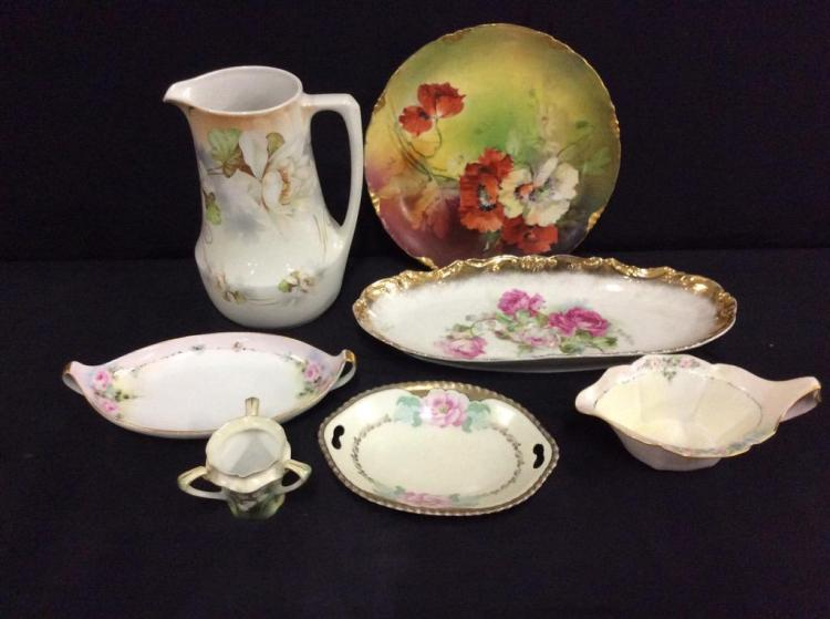 Set of hand painted antique and vintage bavarian pieces