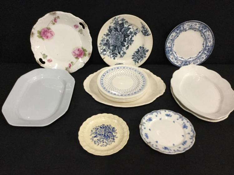 Selection of vintage and antique plates - copeland , taylor smith, etc