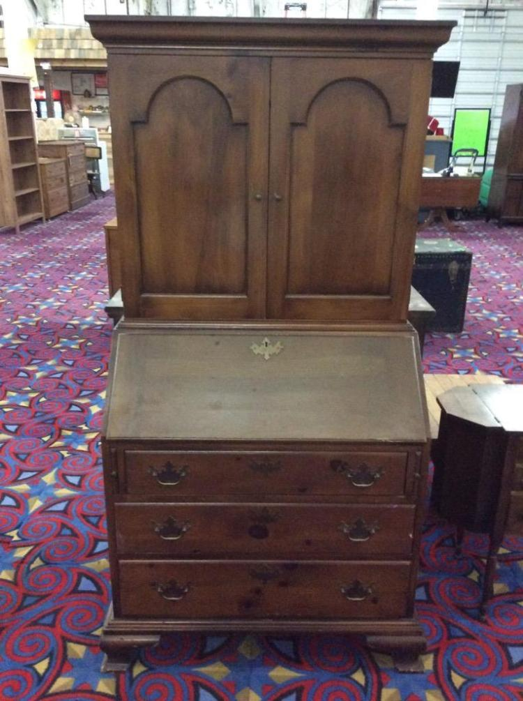 Vintage Secretary Desk w/ amazing apothecary style inside see pics - made in Vermont