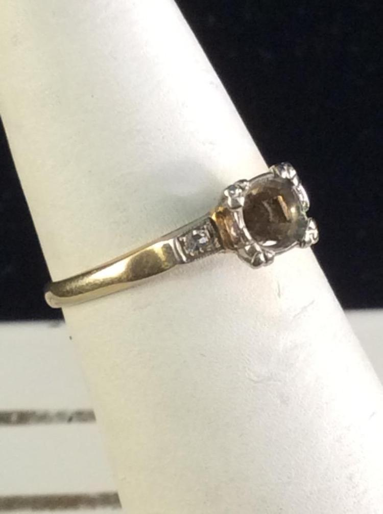 14k yellow gold size 5 engagement ring - no center stone