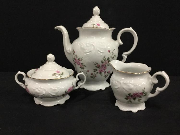 Vintage Porcelain Wawel made in poland Tea Service Set