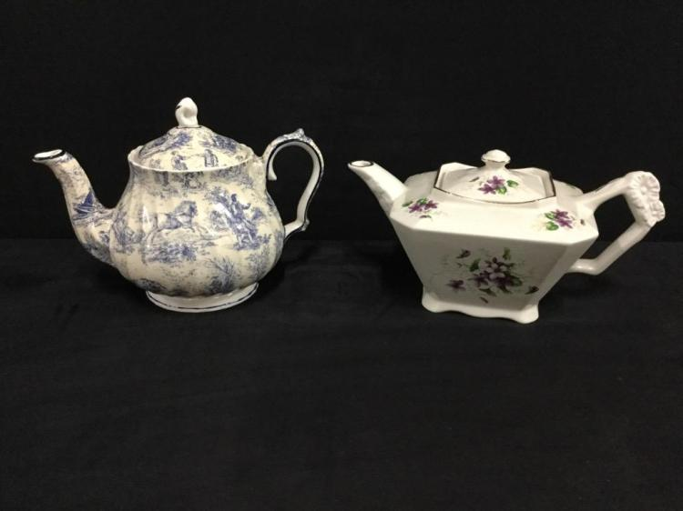 Crown Dorset Staffordshire & James Kent Old Foley teapots