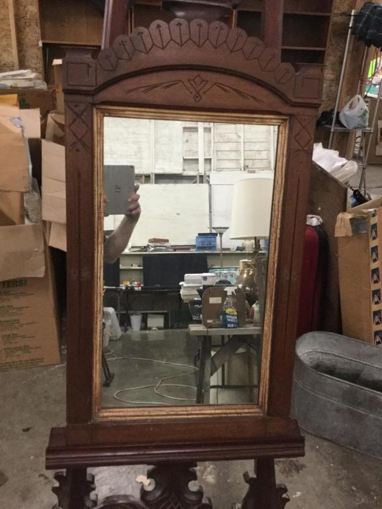 Antique Eastlake Hanging Mirror