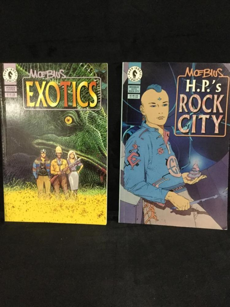 2 Mobius trade paperbacks.