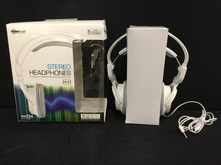 Noise hush professional grade stereo headphones in box