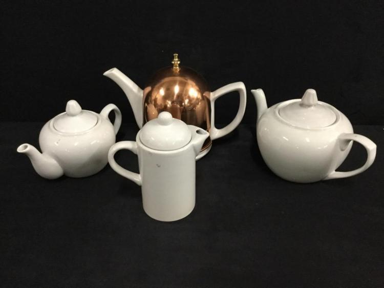 Modern White Porcelain Tea & Chocolate Set