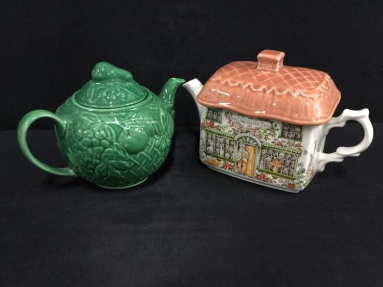wade England Cabbage Teapot and Sadler England House Teapot