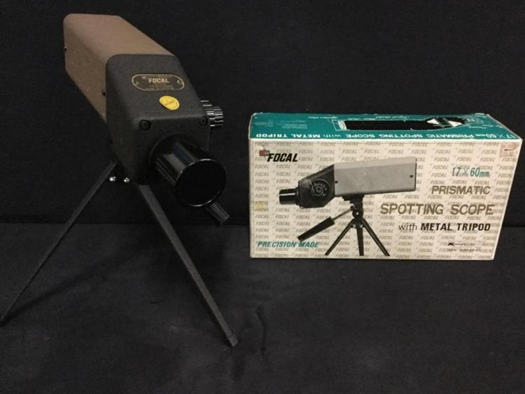 Vintage Focal Prismatic Spotting Scope with box