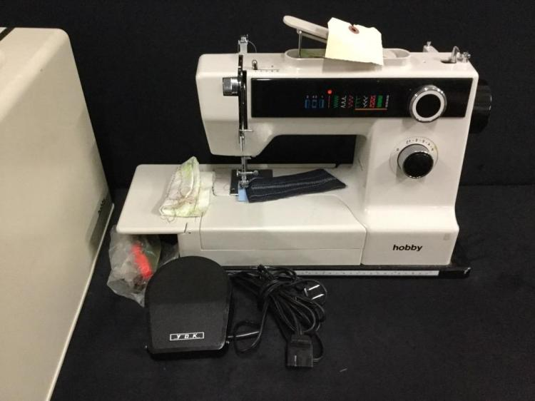 Computerized hobby Sewing Machine with cover and footpedal