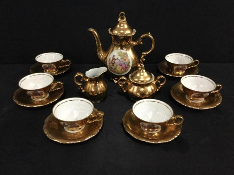 Lovely Hand painted Antique Bavarian Tea set in good cond