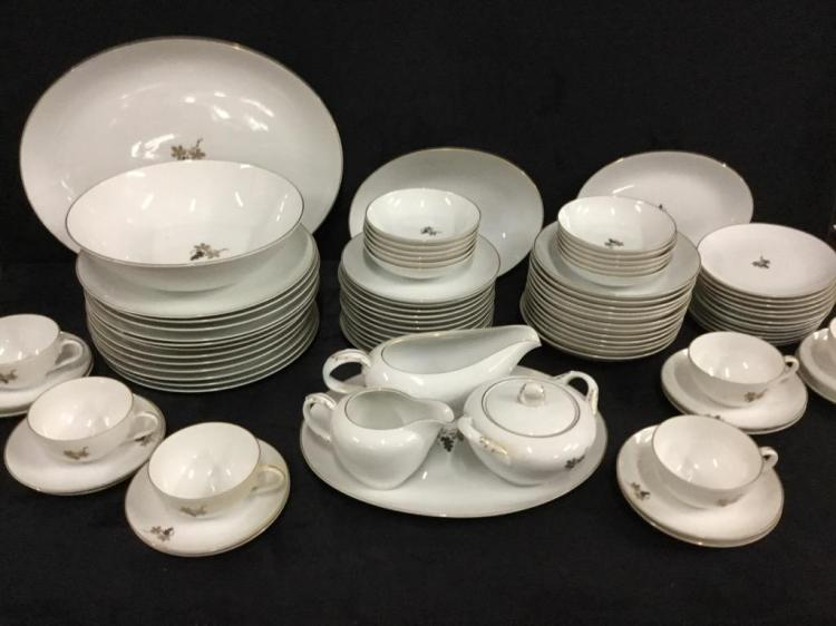Huge Fukagawa hand painted 1950's japanese china set