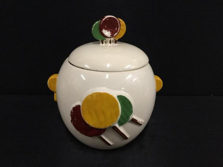 Vintage early Americana Lollipop Candy/Cookie jar in good cond