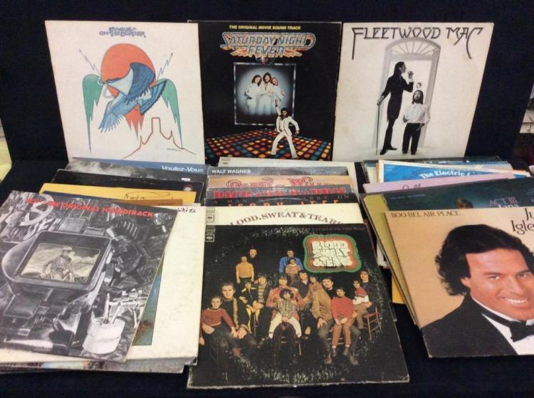 Selection of 43 albums incl. Fleetwood, the who, etc