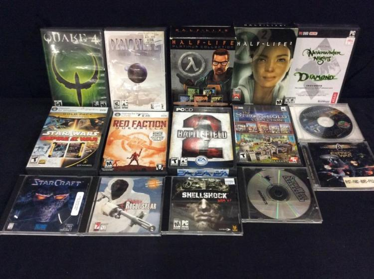 15 assorted PC games incl. half-life collection
