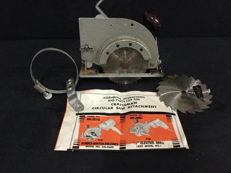 Vintage Unique Craftsman Screwgun to Saw Attachment