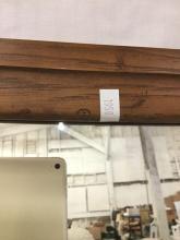 Lot 8: Broyhill - Sculptra wood frame mirror with slight inward curve on edges