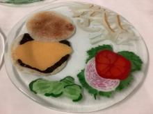 Lot 14: 6 Andre Duree fused art glass hamburger design plates (1995)