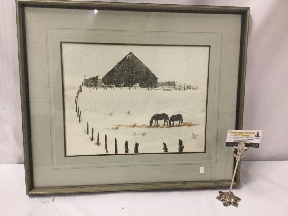 Original watercolor by Phil Tyler from 1980 titled a Couple of Broomtails - appraised at $325