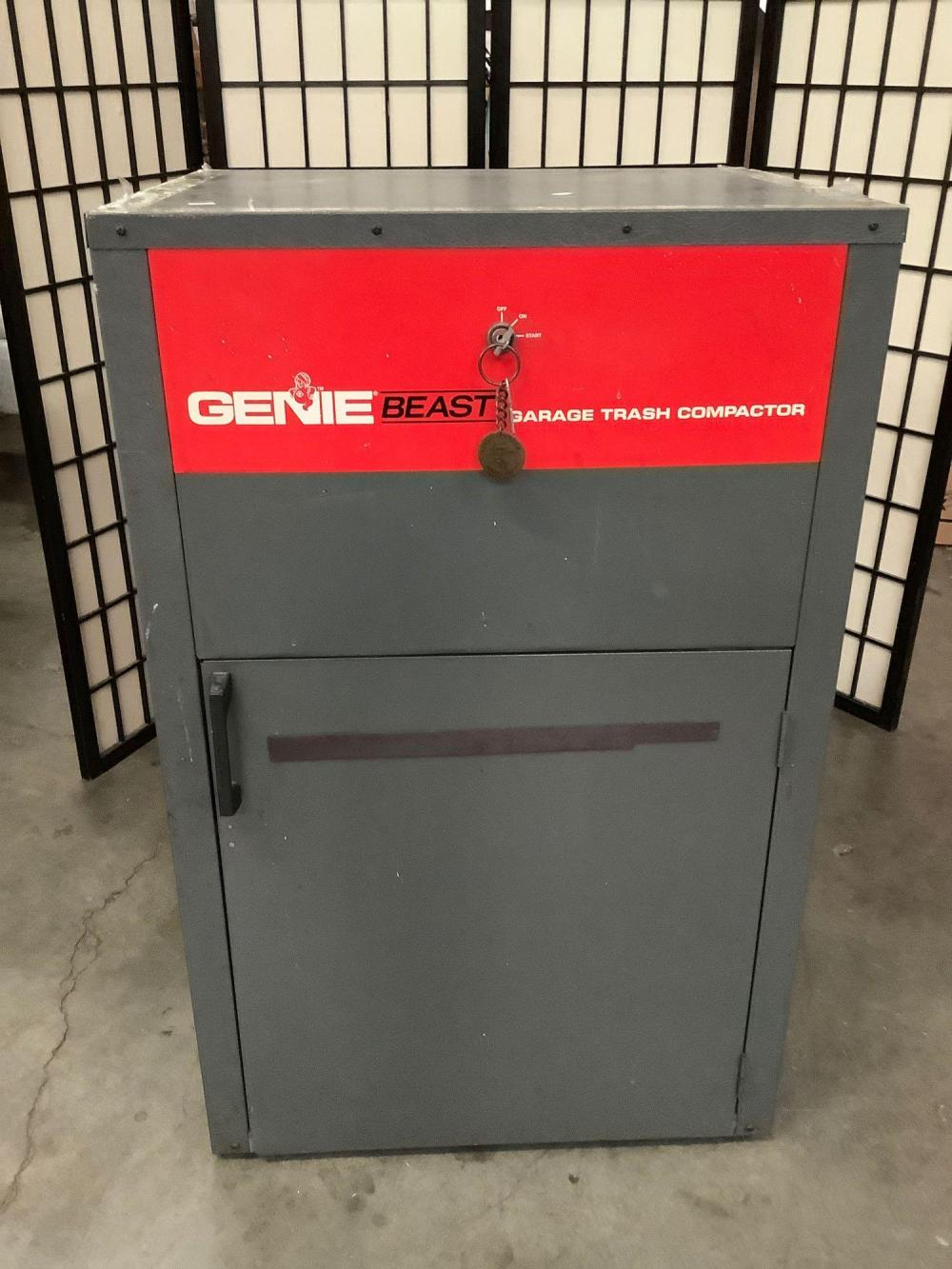 Genie Beast garage trash compactor, model GTC-1, tested and working