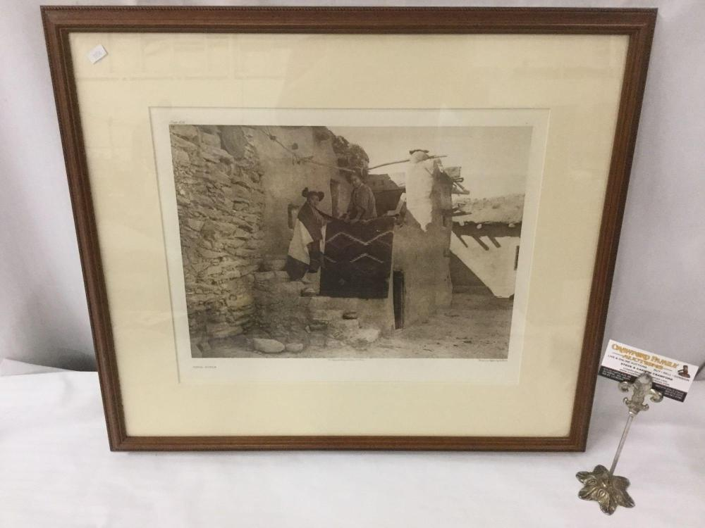 Lot 73: Antique framed photogravure by Suffolk Engraving Co. of Edward Curtis - Tewa Girls - appraised @