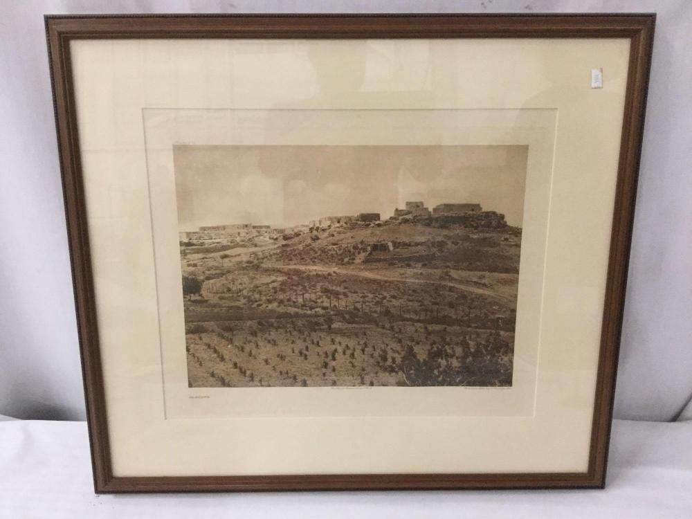 Lot 75: Antique framed photogravure by Suffolk Engraving Co. (Boston) of Edward Curtis - Paguate