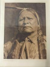 Lot 76: Antique photogravure by Suffolk Engraving Co. of Edward Curtis - Walter Ross-Wichita