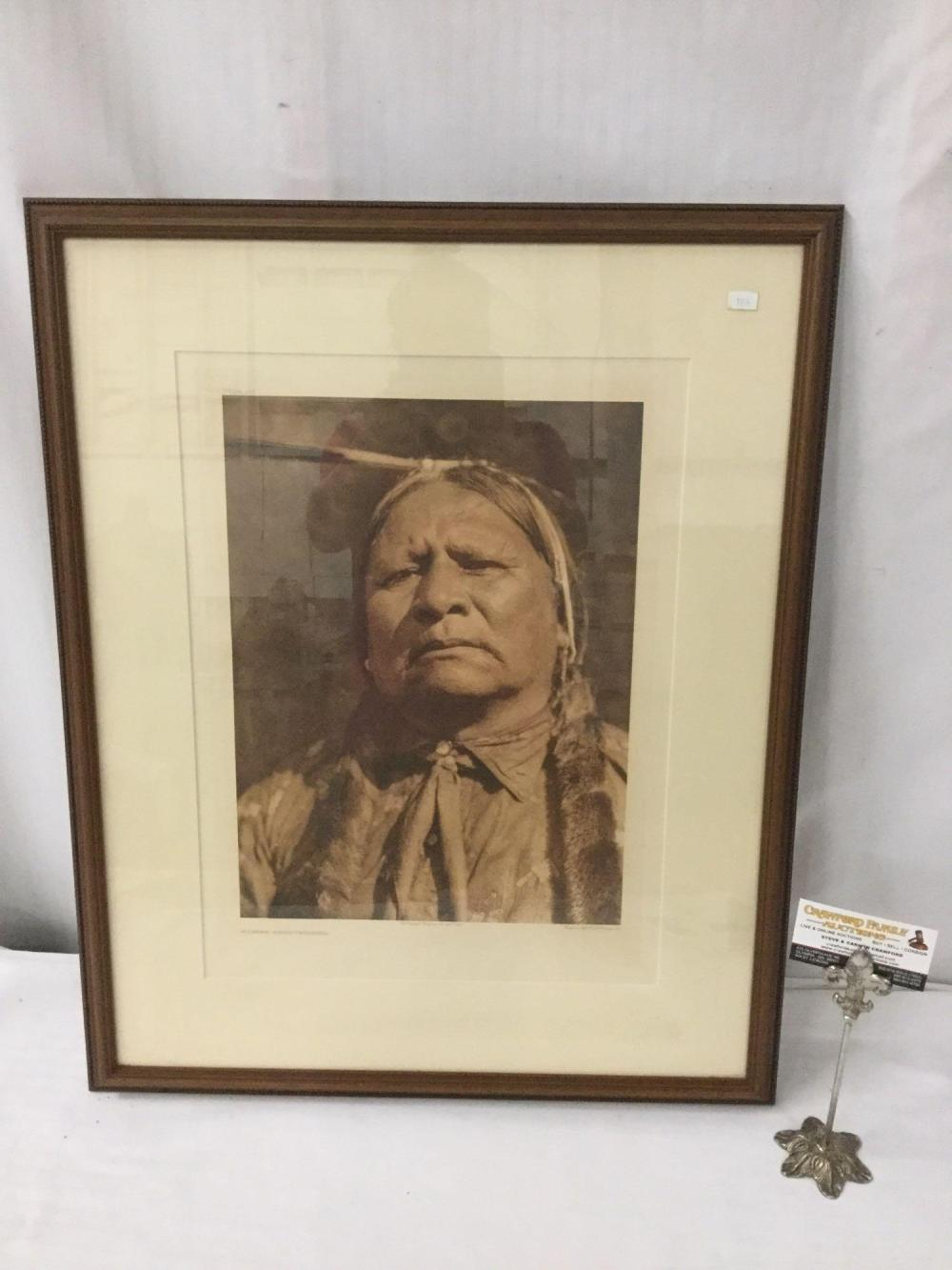 Antique photogravure by Suffolk Engraving Co. of Edward Curtis - Walter Ross-Wichita