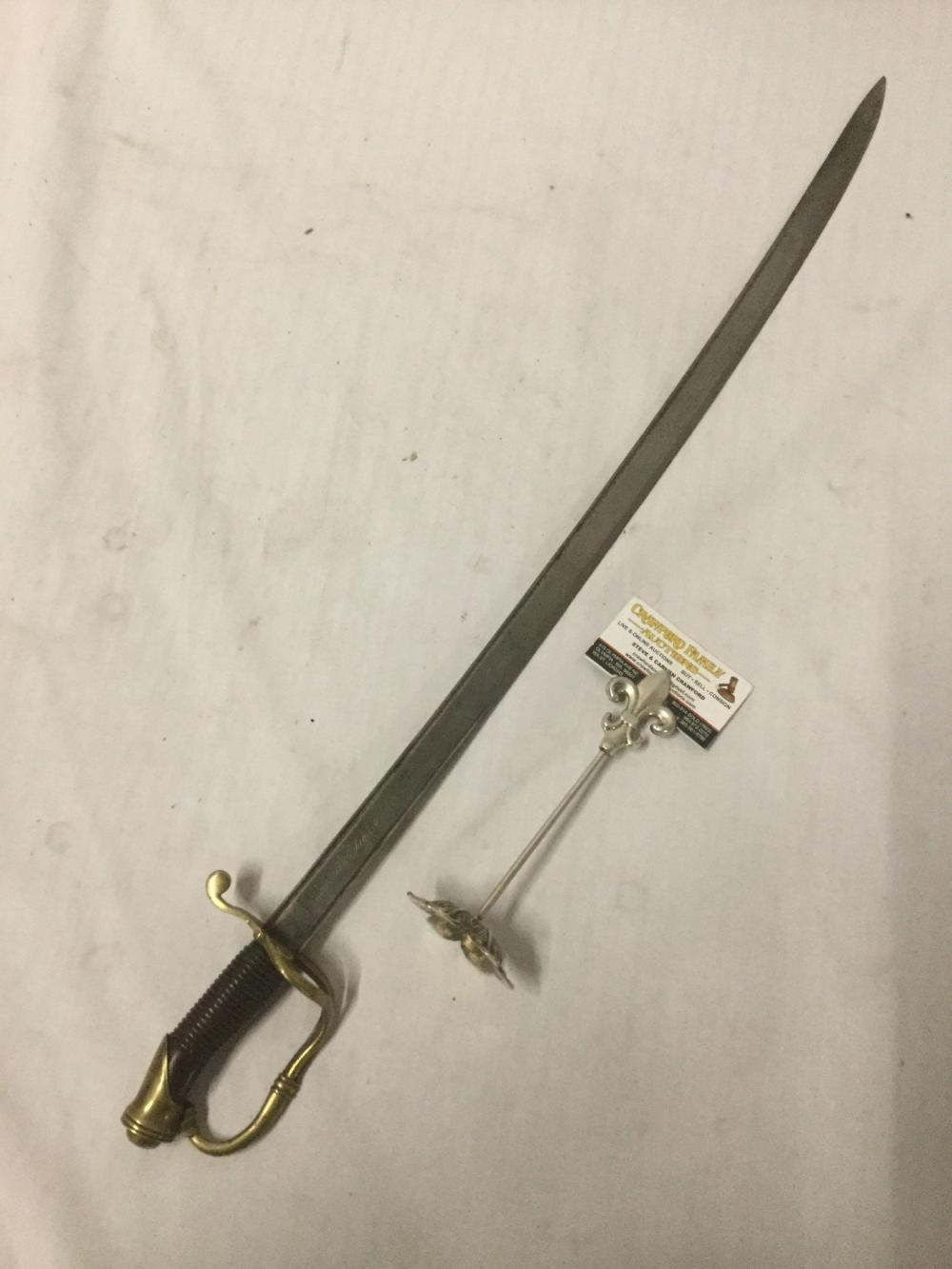 Antique 1850 Spanish Real Toledo Steel NCO Sword. Part of the hilt has separated