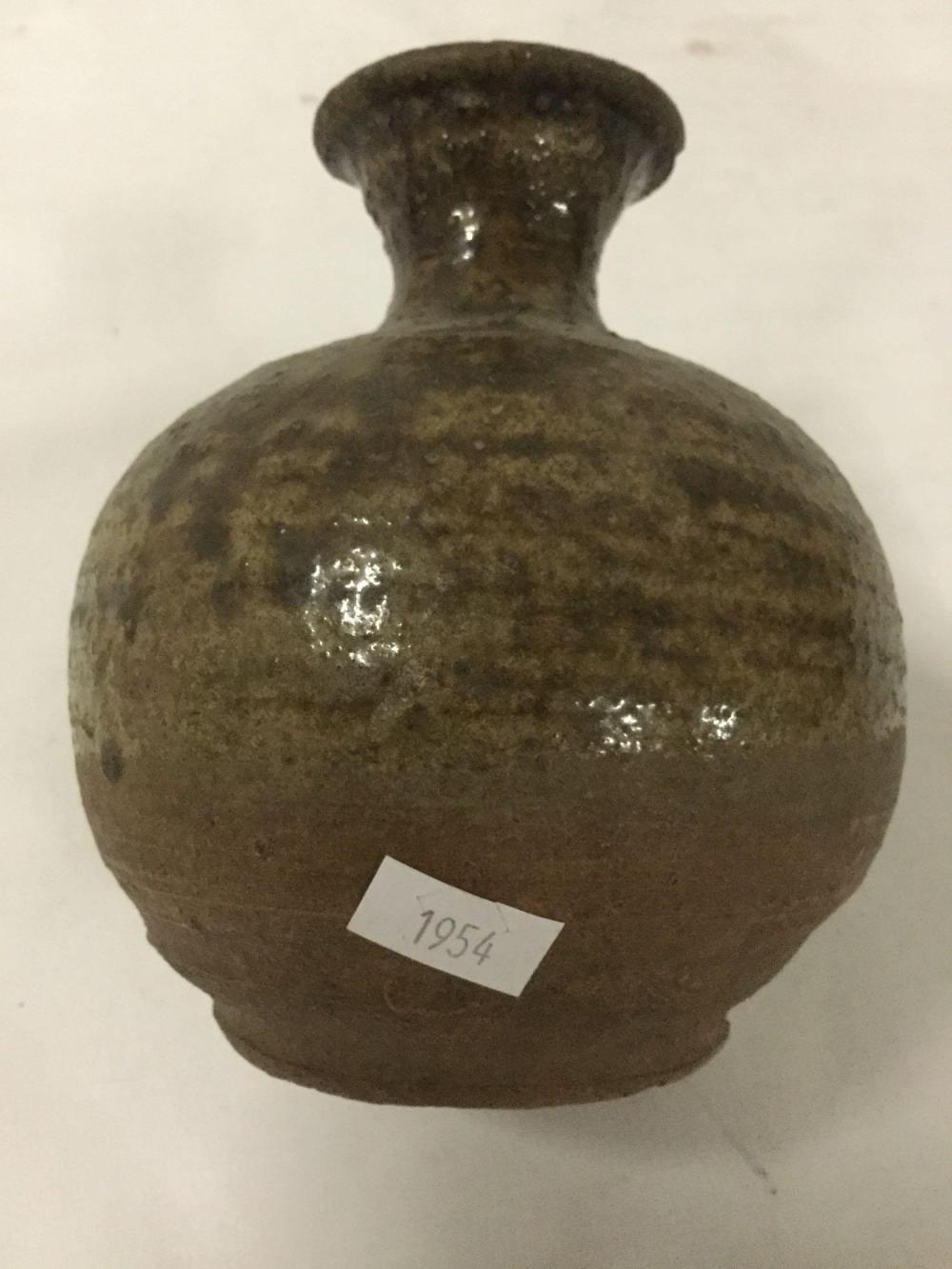 Lot 108: Circa 15th century Earthenware vase from Sankampaeng region of Thailand