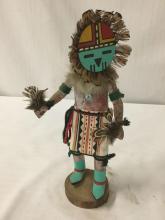 Lot 113: Native American art sculpture - Hopi kachina doll, Sun Face, signed by artist C. Smith