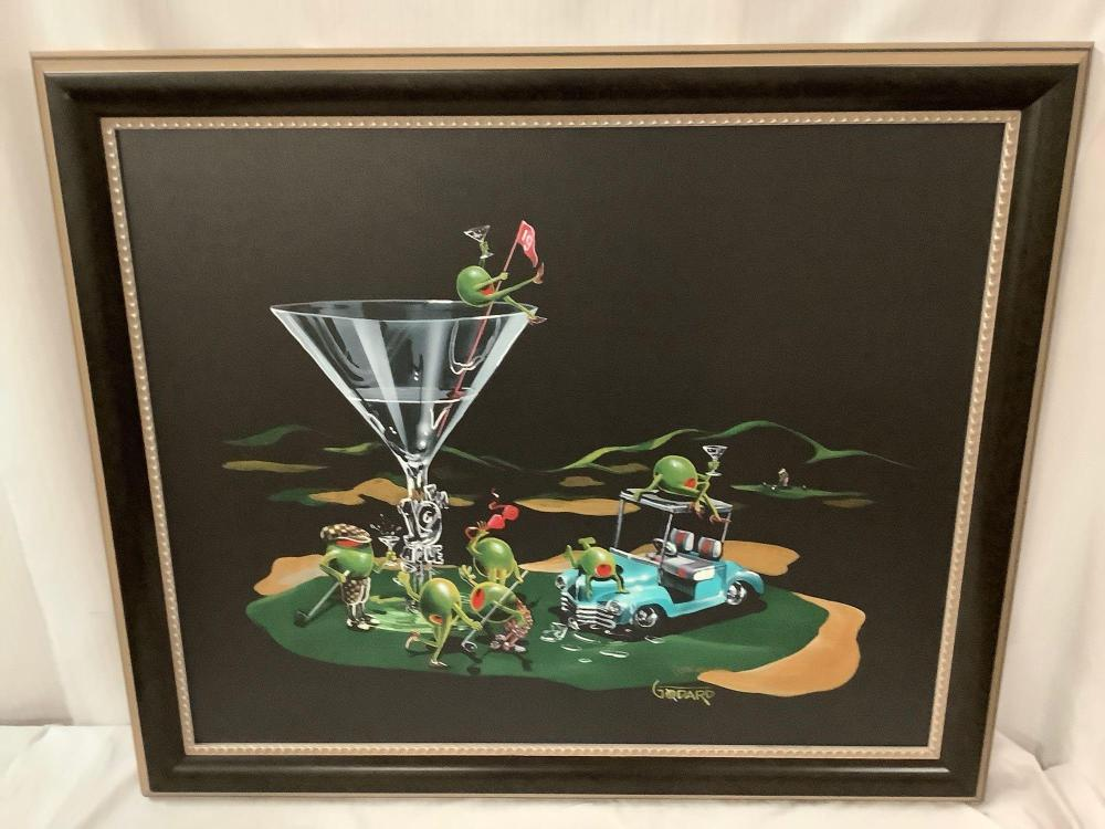 Lot 118: Framed giclee on canvas print - 19th Hole by Michael Goddard (2006), signed & #'d by COA