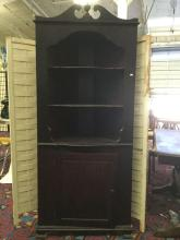 Lot 122: Vintage 40s Northwest Chair Company mahogany corner cabinet - Made in Tacoma