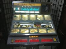 Lot 102: Vintage Seeburg Selectomatic stereo jukebox full of classic rock records - as is see desc