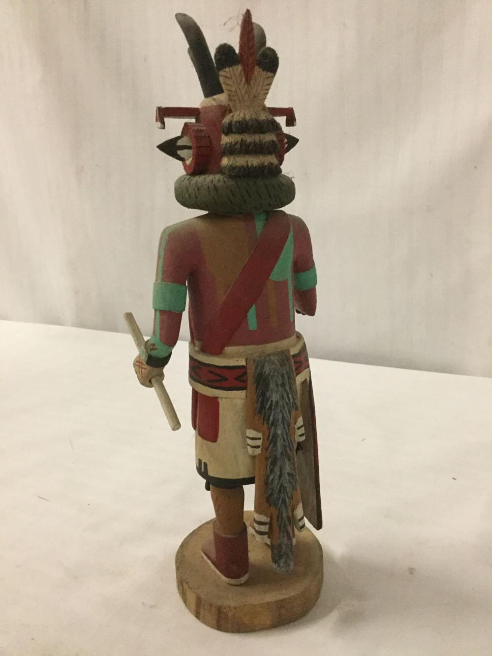Lot 117: 3 Native American Hopi Kachina dolls - 2x signed - Antelope by Conrad Torivio, Rainbow by Vina